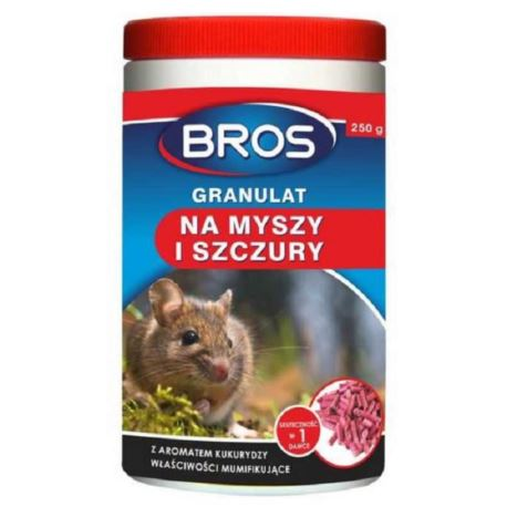 Bros- Granulat na myszy i szczury 250g