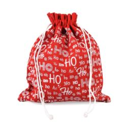 Worek jutowy świąteczny HO HO HO 30x22cm