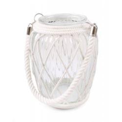 Szklany lampion ze sznurkiem  11x11x20/40h